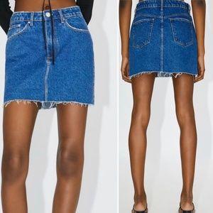 Zara Women's High Waisted Denim Mini Skirt NEW
